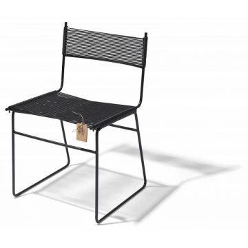 Fair Furniture dining chair black pvc sled