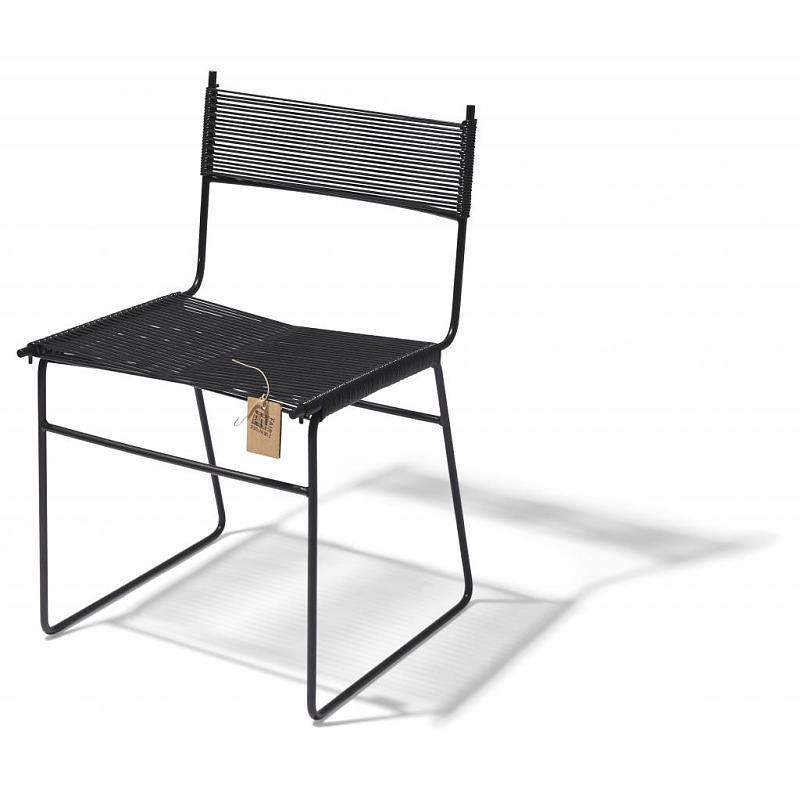 Silla de comedor Faif Furniture pvc negro patín