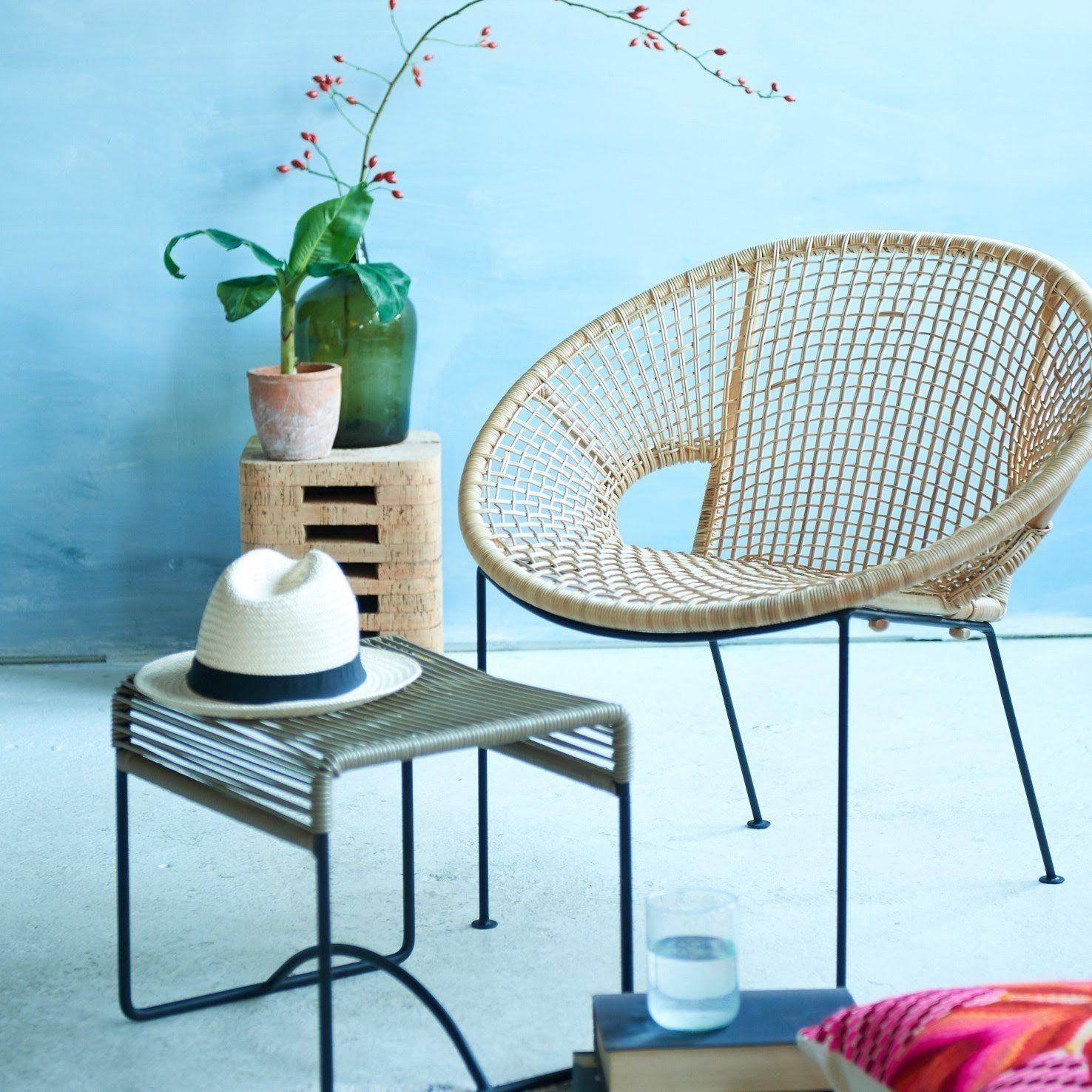 Silla Ubud fair furniture taburete de corcho