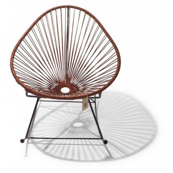 Acapulco schommelstoel leder 2