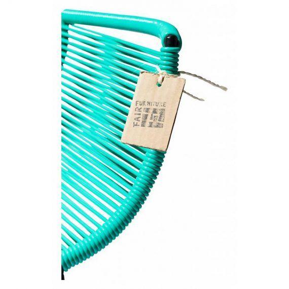 Barstoel turquoise 3