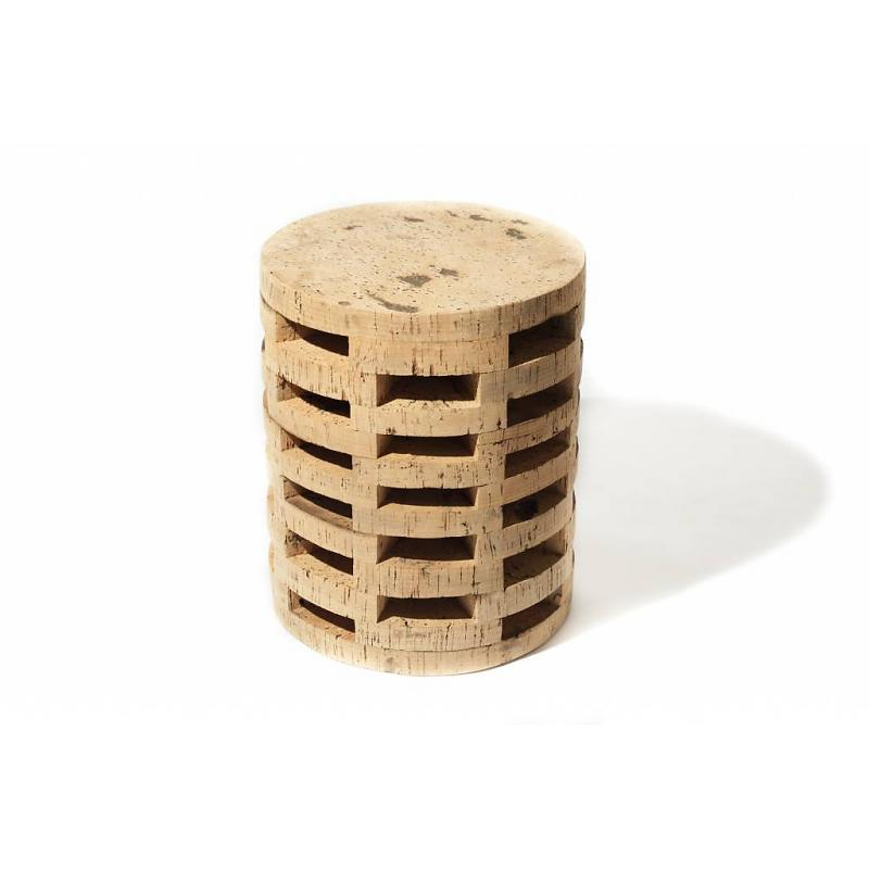 Round cork stool/ottoman Fair Furniture