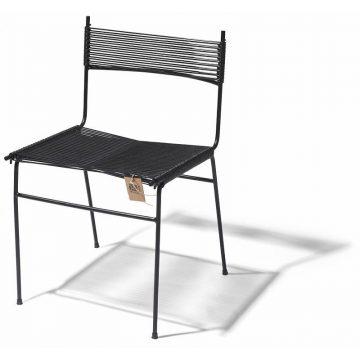 Polanco dining chair black pvc
