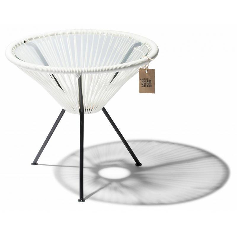 Mesa auxiliar blanca Fair Furniture