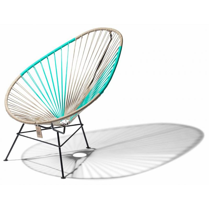 Acapulco Chair Beige Amp Turquoise Fairfurniture Com