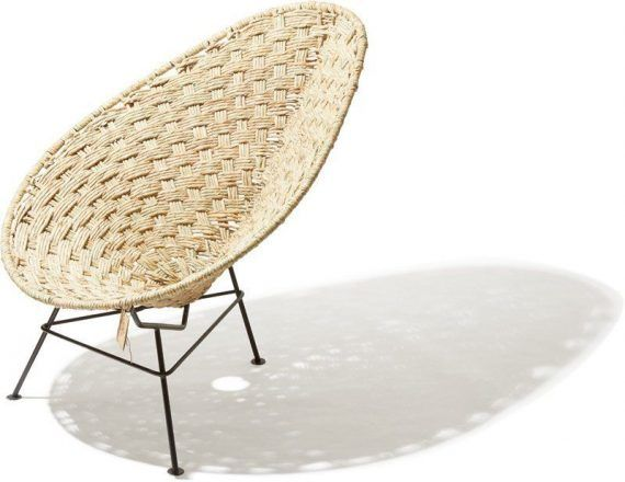 Acapulco chair Tule black frame side