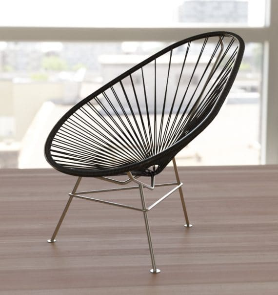 Acapulco chair stainless with black