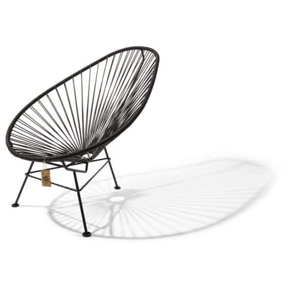 Acapulco chair black leather_2